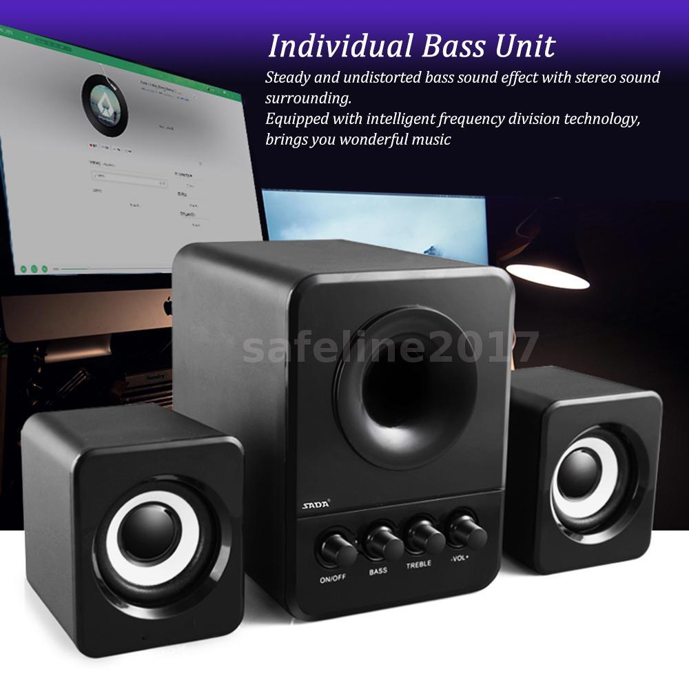 Verdrahtete Lautsprecher Super Bass Stereo Subwoofer Sound für ...